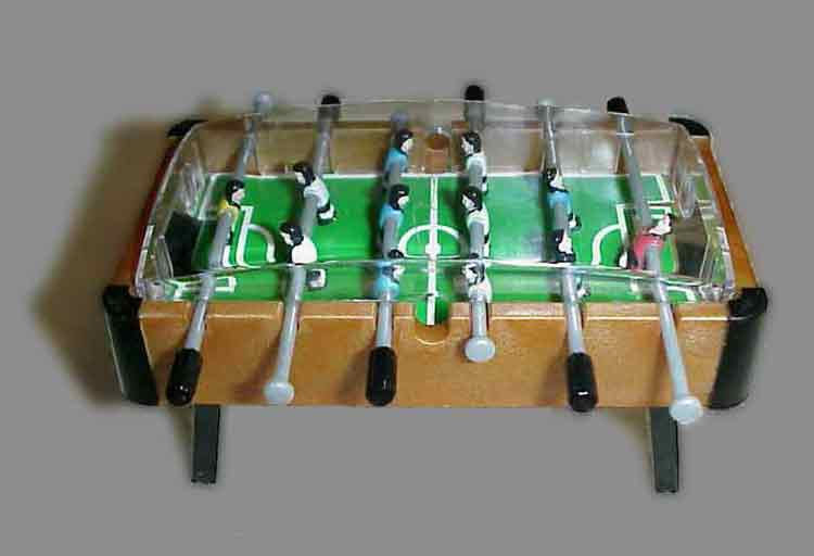 ... Miniature Foosball Table, 1:12 Scale.